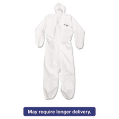 KleenGuard* A20 Breathable Particle Protection Coveralls, Large, White, Zipper Front KCC49113