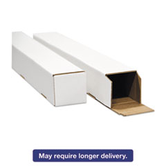 General Supply Square Mailing Tubes, 25l x 2w x 2h, White, 25/Pack UFSSTW2225