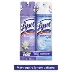 LYSOL® Brand Disinfectant Spray, Early Morning Breeze/Crisp Linen, 12.5 oz Aerosol, 2/Pack RAC90553PK