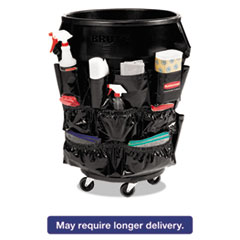 Rubbermaid® Commercial Brute Caddy Bag, 12 Pockets, Black, 6/Carton RCP1867533CT