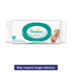 Pampers® Sensitive Baby Wipes, White, Unscented, 6 4/5 x 7, 36/Pack, 12 Pack/Carton PGC17116CT
