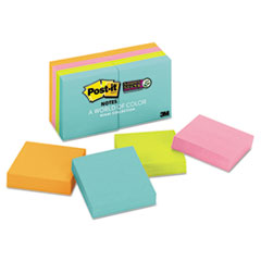 Post-it® Notes Super Sticky Pads in Miami Colors, 2 x 2, 90/Pad, 8 Pads/Pack MMM6228SSMIA