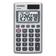 Casio® HS-8VA Handheld Calculator, 8-Digit LCD, Silver