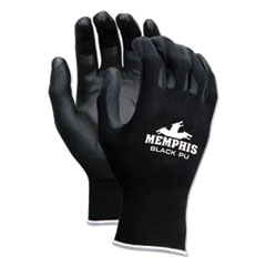 MCR™ Safety Economy PU Coated Work Gloves, Black, X-Large, 1 Dozen