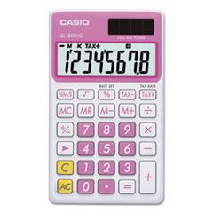 Casio® SL-300VCPK Handheld Calculator, 8-Digit LCD, Pink