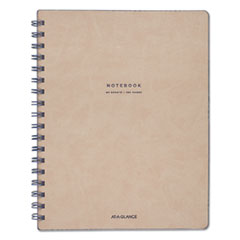 AT-A-GLANCE® Collection Twinwire Notebook, Legal, 9 1/2 x 7 1/4, Tan/Navy Blue, 80 Sheets MEAYP14207