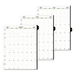 Day-Timer® Original Two-Page-Per-Day Refill, 8 1/2 x 11, White/Green, 2017 DTM940101701