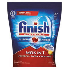 FINISH® Powerball® Max in 1® Super Charged Ultra Degreaser Dishwasher Tabs