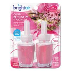 BRIGHT Air® Electric Scented Oil Refill, Cherry Blossom/Magnolia, 0.67oz Jar, 2/Pk, 6Pk/Ctn BRI900271