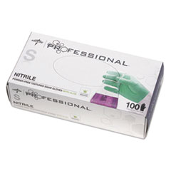 Medline Professional Nitrile Exam Gloves with Aloe, Small, Green, 100/Box