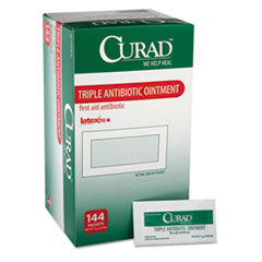 Curad® Triple Antibiotic Ointment, 0.9 g Foil Packet, 144/Box