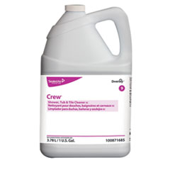 Diversey™ Crew Concentrated Shower/Tub/Tile Cleaner, Fresh Scent, 1 gal Bottle, 4/Carton