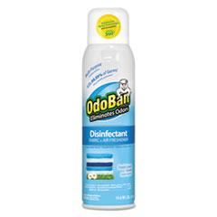 OdoBan® Disinfectant/Fabric & Air Freshener 360 Spray, Fresh Linen, 14 oz Can, 12/Ctn