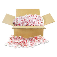 Office Snax® Candy Tubs, Peppermint Puffs, Individually Wrapped, 10 lb Value Size Box