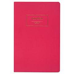 Cambridge® Fashion Casebound Business Notebook, 8 1/2 x 5 1/2, Pink, 80 Sheets MEA49563
