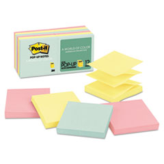 Original Pop-up Refill, 3 x 3, Assorted Marseille Colors, 100-Sheet, 12/Pack