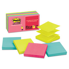 Original Pop-up Refill, 3 x 3, Assorted Cape Town Colors, 100-Sheet, 12/Pack