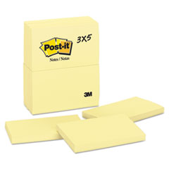 Post-it® Notes Original Pads in Canary Yellow Thumbnail