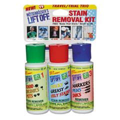 Motsenbocker's Lift-Off® Stain Removal Kit, Lemon Scent, (3) 2oz Bottles with Wand & Guide, 4/Carton