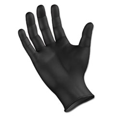 Boardwalk® Disposable General Purpose Powder-Free Nitrile Gloves, L, Black, 4.4mil, 1000/Ct
