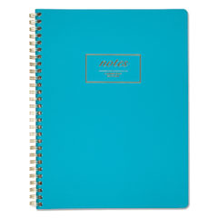 Cambridge® Fashion Twinwire Business Notebook, 9 1/2 x 7 1/4, Teal, 80 Sheets MEA49587