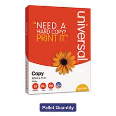 Universal® Copy Paper, 92 Brightness, 20 lb, 8-1/2 x 11, White, 200,000 Sheets/PLT