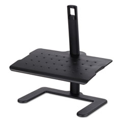 Safco® Height-Adjustable Footrest, 20 1/2w x 14 1/2d x 3 1/2 to 21 1/2h, Black