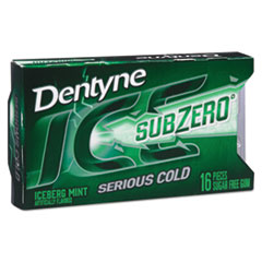 Dentyne Ice® Sugarless Gum, Iceberg Mint, 16 Pieces/Pack, 9 Packs/Box CDB00868