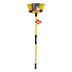 "Quickie® Super-Duty Upright Broom, 5 1/2"" Bristles, 54"" Handle, Fiberglass, Yellow/Black"