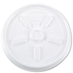 Dart® Vented Plastic Hot Cup Lids, 10JL, 10 oz., White, 1000/Carton