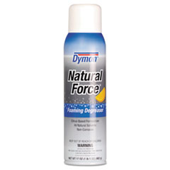 Dymon® Natural Force Foaming Degreaser, Citrus, 17 oz Aerosol Spray, 12/Carton