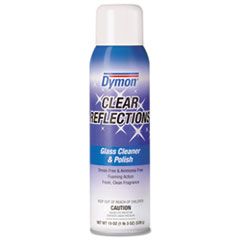 Dymon® Clear Reflections Mirror and Glass Cleaner, 20 oz, Aerosol, 12/Carton