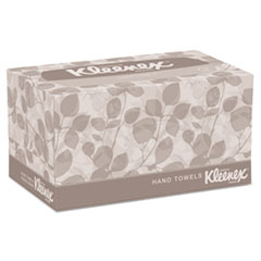 Kleenex® Hand Towels, Pop-Up Box, Cloth, 9 X 10 ½, 120/Box, 18 Boxes/Carton