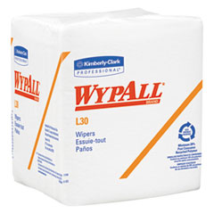 WypAll® L30 Towels, Quarter Fold, 12 1/2 x 12, 90/Polypack, 12 Polypacks/Carton