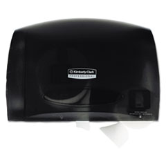 Coreless JRT Tissue Dispenser, 14 1/4w x 6d x 9 7/10h, Smoke/Gray