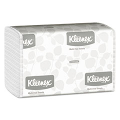 Kleenex® Multi-Fold Paper Towels, 9 1/5 x 9 2/5, White, 150/Pack, 16 Packs/Carton