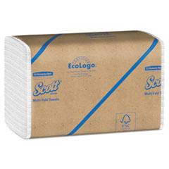 Scott® Essential Multi-Fold Towels, Absorbency Pockets, 9 1/5 x 9 2/5, 250/Pk, 16 Pk/CT