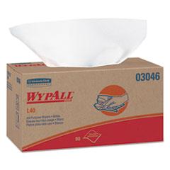 WypAll® L40 Towels, POP-UP Box, White, 10 4/5 x 10, 90/Box, 9 Boxes/Carton