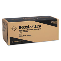 WypAll® L10 Towels POP-UP Box, 1Ply, 12x10 1/4, White, 125/Box, 18 Boxes/Carton