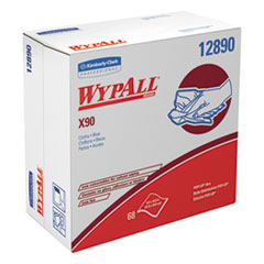 WypAll® X90 Cloths, POP-UP Box, 8 3/10 x 16 4/5, Denim Blue, 68/Box, 5 Boxes/Carton
