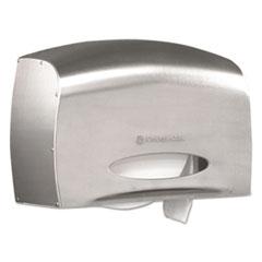 KIMBERLY-CLARK PROFESSIONAL* Coreless JRT Jr. Bath Tissue Dispenser, EZ Load, 6x9.8x14.3, Stainless  KCC09601