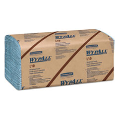 WypAll® L10 Windshield Wipers, Banded, 2-Ply, 9.3 x 10.25, 140/Pack, 16 Packs/Carton
