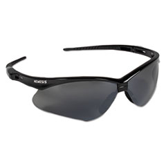 KleenGuard™ V30 Nemesis Safety Glasses, Black Frame, Smoke Lens