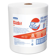 WypAll® X80 Cloths with HYDROKNIT, Jumbo Roll, 12 1/2w x 13.4 White, 475 Roll
