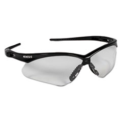 KleenGuard™ Nemesis Safety Glasses, Black Frame, Clear Lens