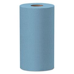 WypAll® X60 Cloths, Small Roll, 9.8 x 13.4, Blue, 130/Roll, 12 Rolls/Carton