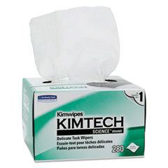 Kimtech™ Kimwipes Delicate Task Wipers, 1-Ply, 4 2/5 x 8 2/5, 280/Box, 30 Boxes/Carton