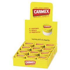 Carmex® Moisturizing Lip Balm, Original Flavor, 0.25 oz Jar, 12/Box