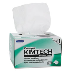 Kimtech™ Kimwipes, Delicate Task Wipers, 1-Ply, 4 2/5 x 8 2/5, 280/Box,16800/Ct