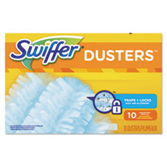 Swiffer® Refill Dusters, Dust Lock Fiber, Light Blue, Unscented, 10/Box